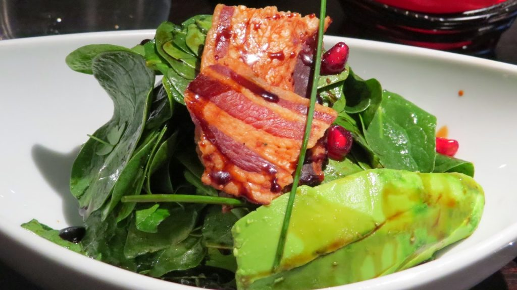 Lifestyle Enthusiast - Salad of Avacado, spinach, bacon, chives and pomegranate
