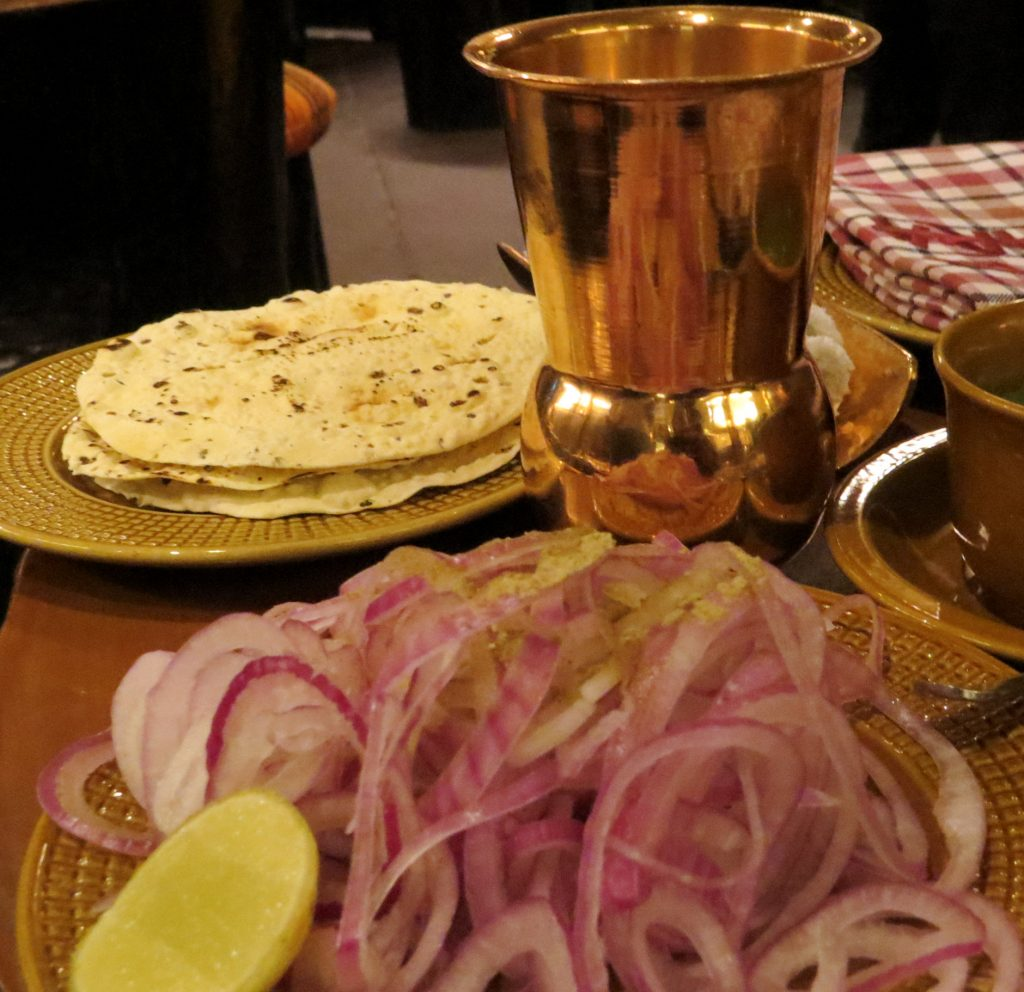 Lifestyle Enthusiast - Poppadams and onions at Bukhara