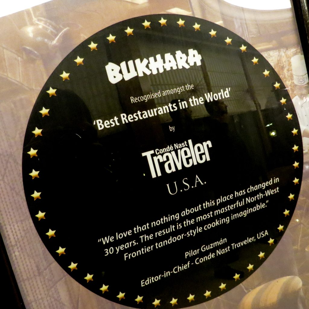 Lifestyle Enthusiast - Best Restaurants in the World Bukhara, as voted by Conde Nast Traveler USA