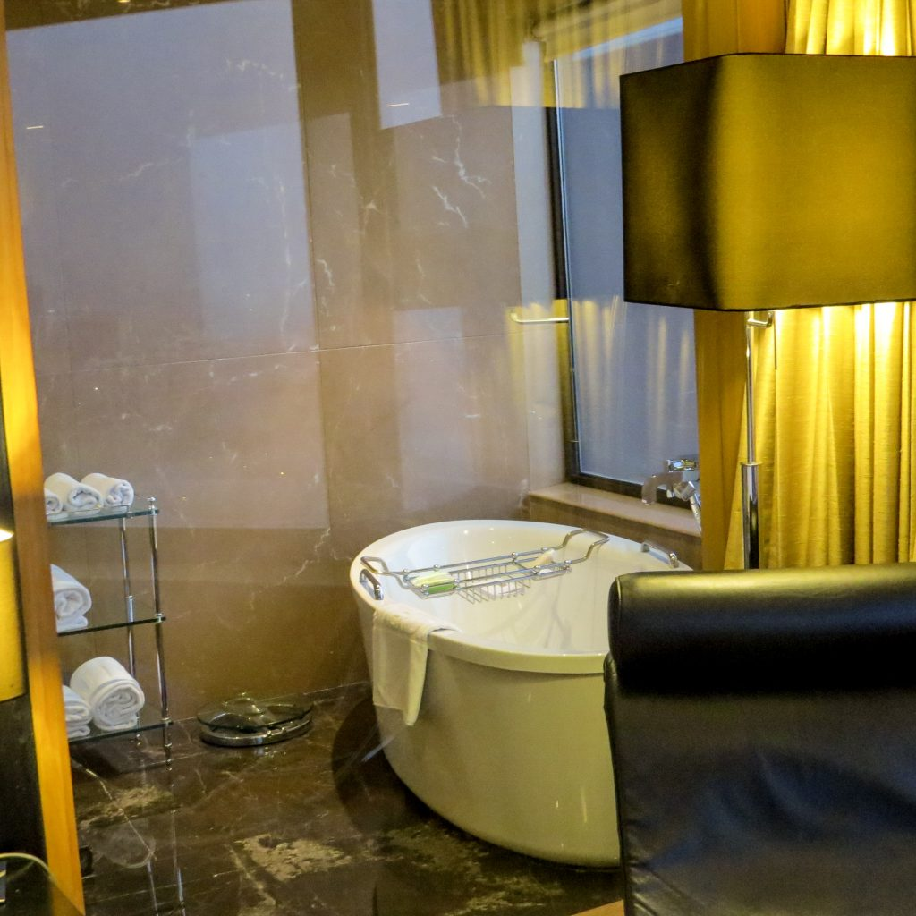 Lifestyle Enthusiast - Le Meridien Hotel New Delhi Suite Bathtub View From Bedroom