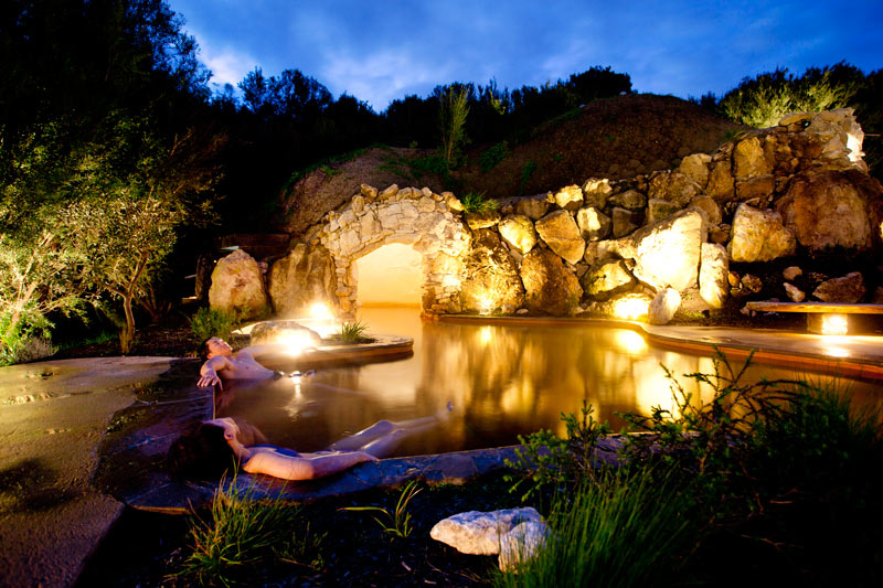 Peninsula Hot Springs - evening cave view