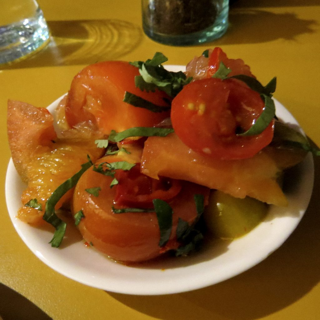 Honey & Smoke Winter Tomato Salad