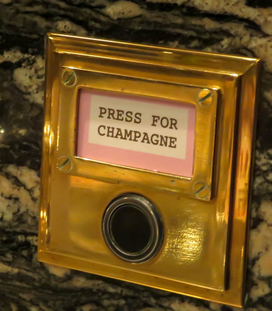 Lifestyle Enthusiast blog_ Bob Bob Ricard Press for Champagne button in Booth