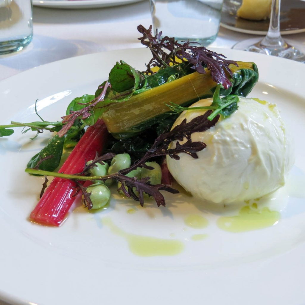 Buffalo mozzarella rainbow chard Spring Somerset House_ Lifestyle Enthusiast