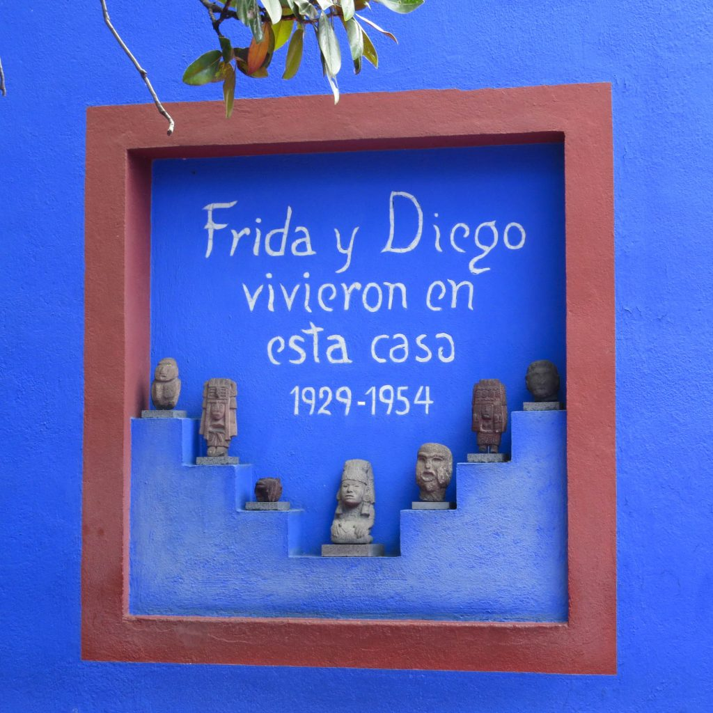 Frida Kahlo and Diego Rivera home sign Mexico City - Lifestyle Enthusiast