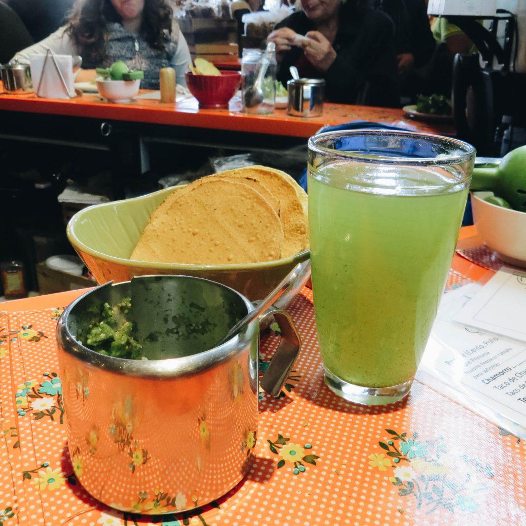 Guacamole, fresh tortillas and agua - Mexico City - Lifestyle Enthusiast