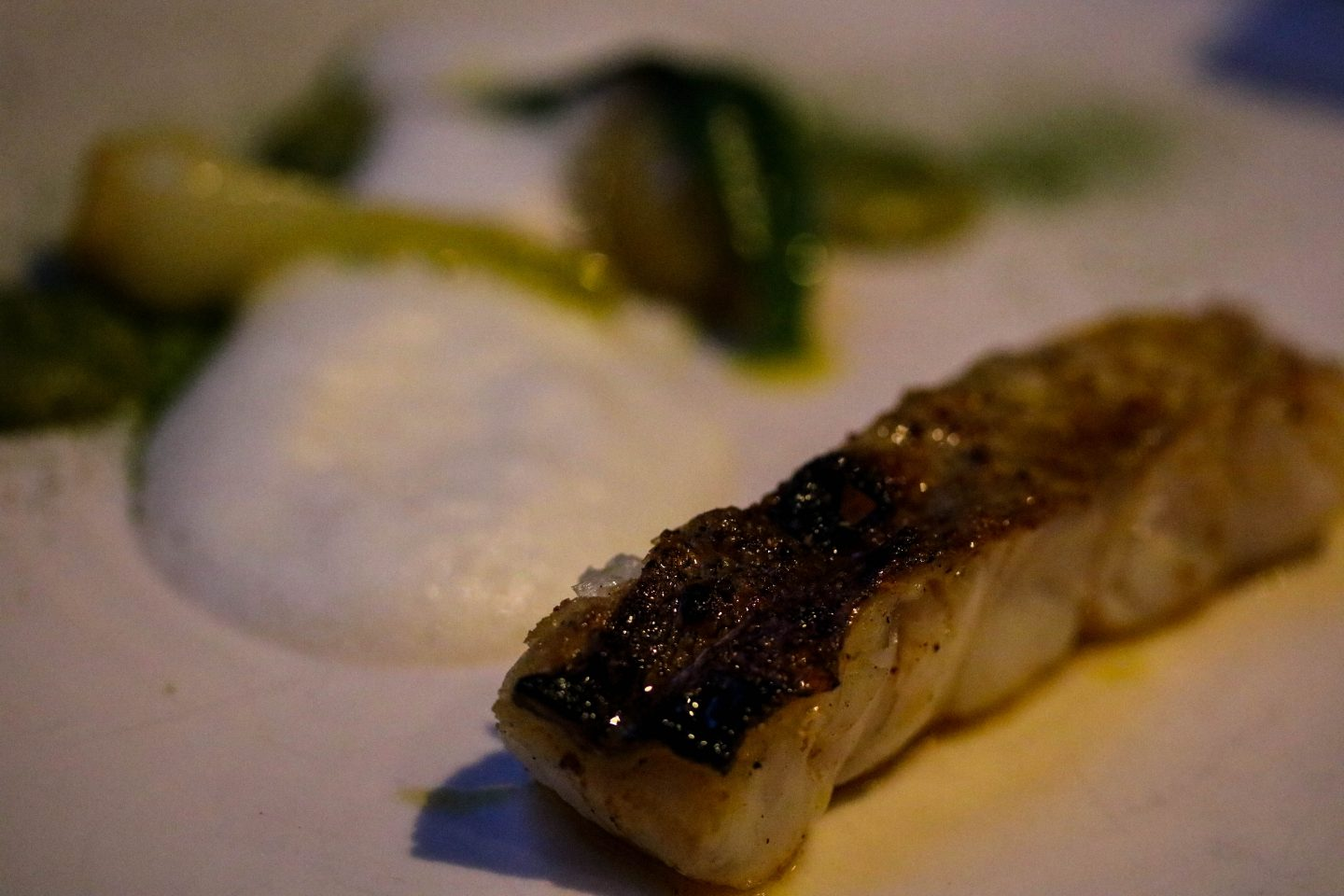 Pollock with green curry foam _ Clove Club _ Lifestyle Enthusiast Blog Review