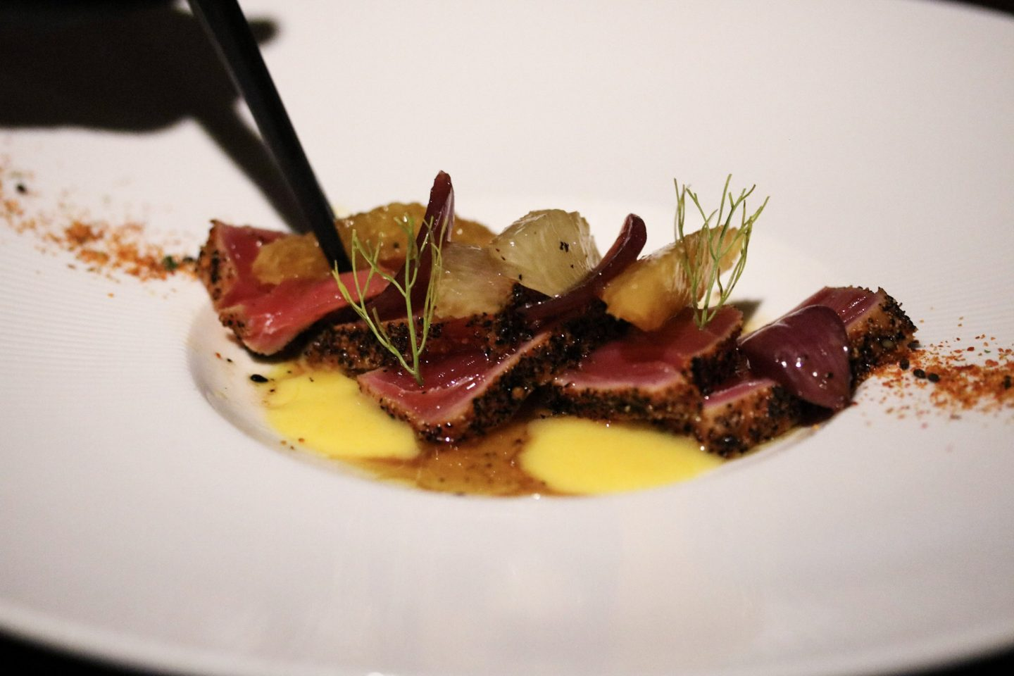 Dinner at Zengo Le Royal Meridien Spicy Seared Tuna - Lifestyle Enthusiast blog
