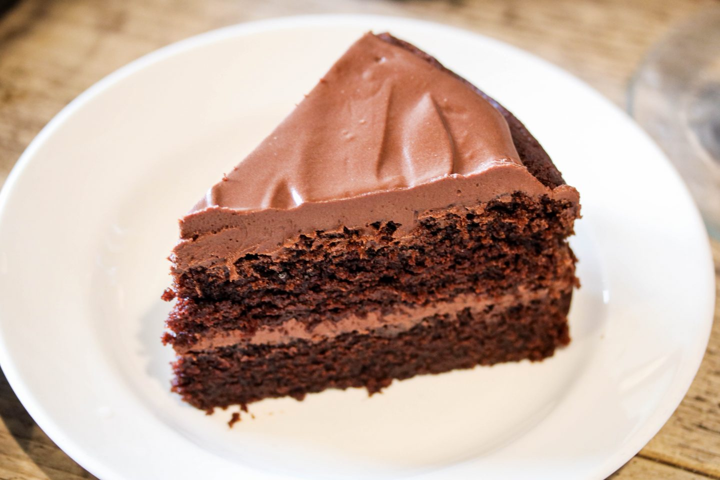 Mill Kitchen Farsley, the best breakfast in Yorkshire, Review on the Lifestyle Enthusiast - Chocolate Fudge Cake slice