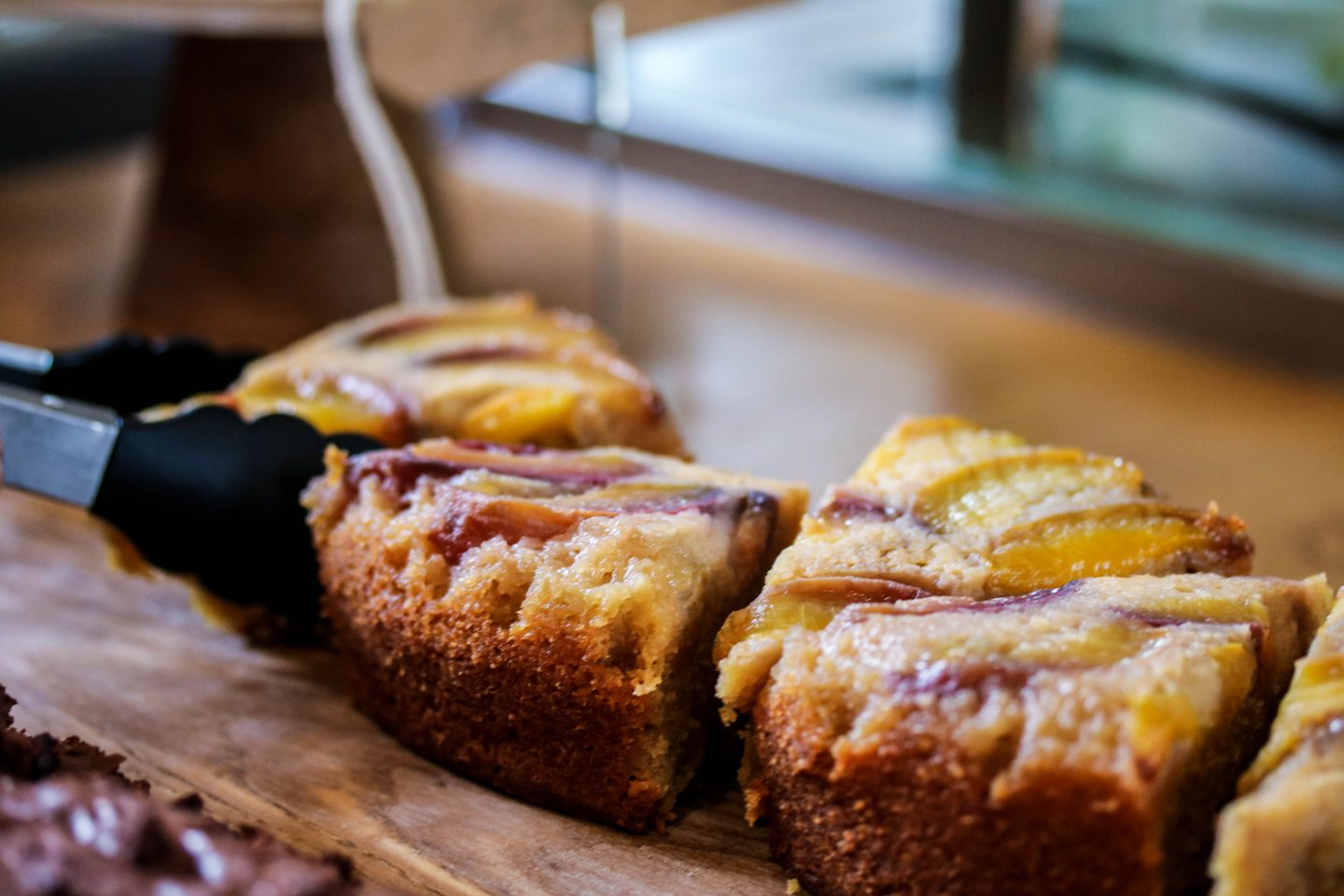 Mill Kitchen Farsley, the best breakfast in Yorkshire, Review on the Lifestyle Enthusiast - Nectarine upside down sponge cake