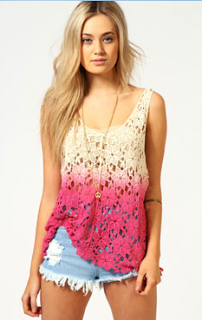Lifestyle Enthusiast - Boohoo Amelie Dip Dye Crochet Top