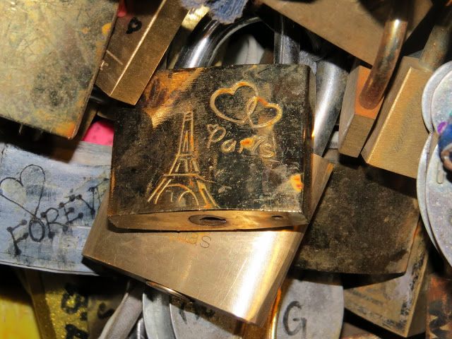 Lifestyle Enthusiast Paris - Lock and Key - Love Bridge - Pont des Artes bridge towards the Louvre