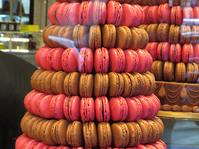 Lifestyle Enthusiast Paris - Rue Royale - Le Macaron - French Macaroon Tower - Chocolate Strwaberry