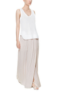 Lifestyle Enthusiast - Zara TRF Long Flowing Skirt in Ivory