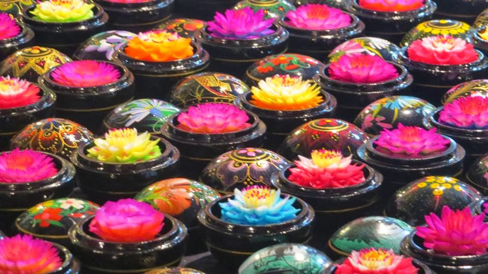Lifestyle Enthusiast -Floral Display in colourful Thai boxes