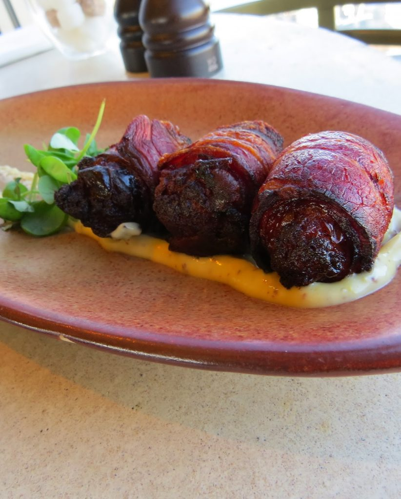 Lifestyle Enthusiast - Duck and Waffle, Heron Tower - Bacon wrapped dates
