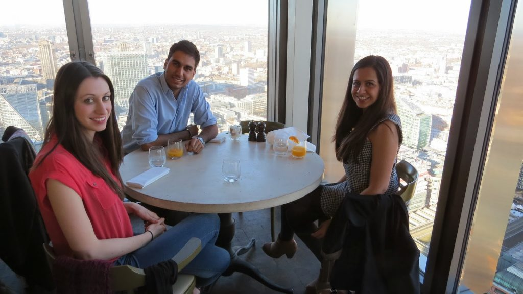 Lifestyle Enthusiast - Duck and Waffle, Heron Tower - Brunching with friends