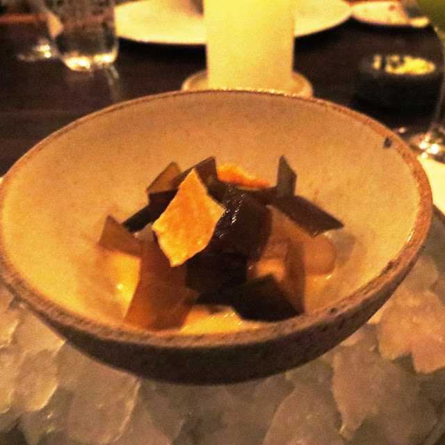 Lifestyle Enthusiast - Noma, Copenhagan - Sliced Raw Squid and Kelp