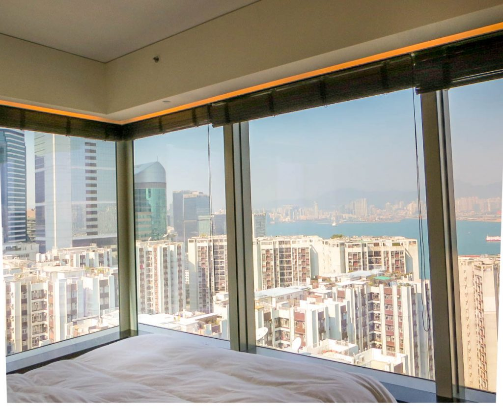 Lifestyle Enthusiast - East Hotel Hong Kong - Harbour Corner Room view