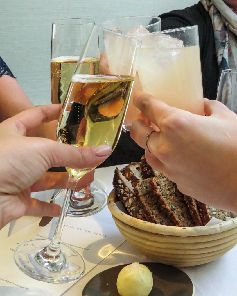 Cheers with Champagne and Rhubarb Bellinis Spring Somerset House_ Lifestyle Enthusiast