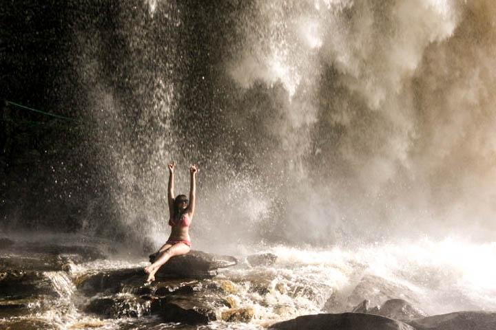 Lifestyle Enthusiast Travel Blog - Canaima Venezuela Sitting by Falls