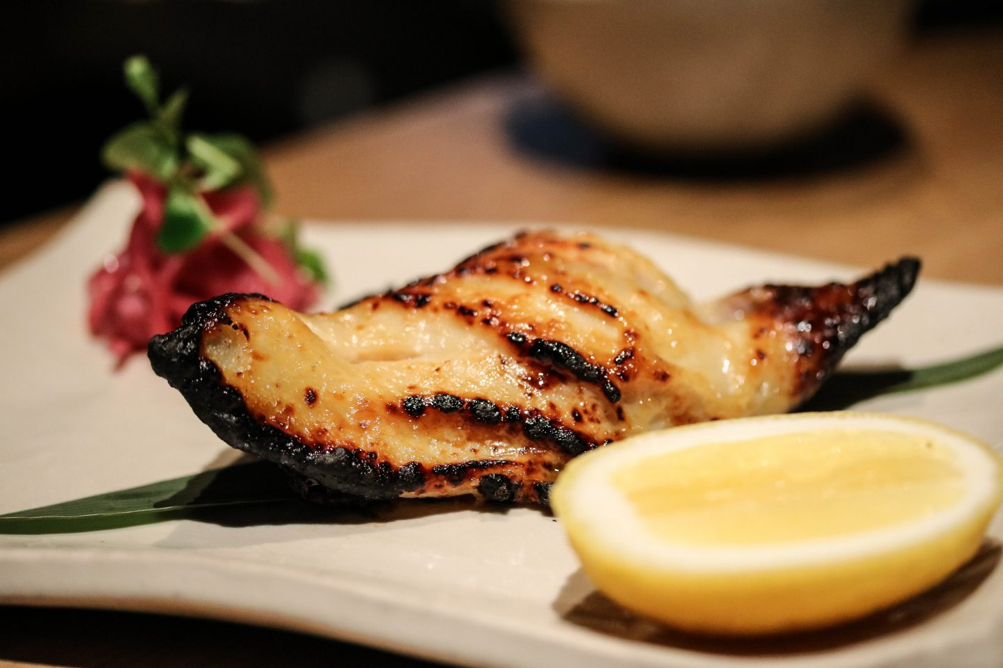 Roka Aldwych - Lifestyle Enthusiast Blog - What to order at Roka - Sea Bream with miso and onion