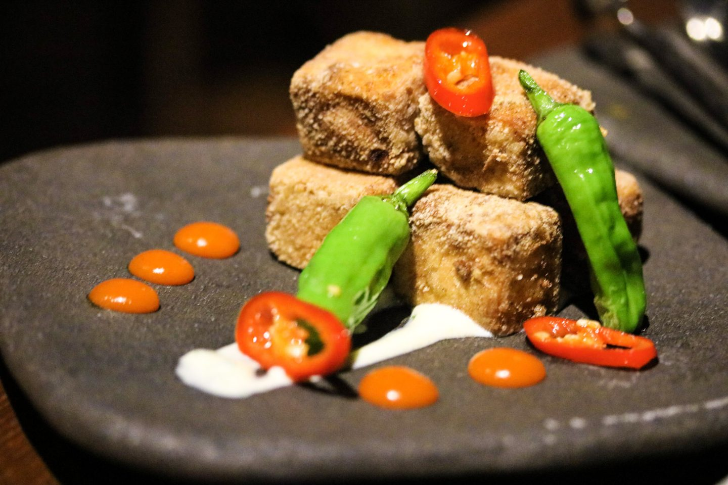 Dinner at Zengo Le Royal Meridien Dubai Five Spice Tofu Side - Lifestyle Enthusiast blog