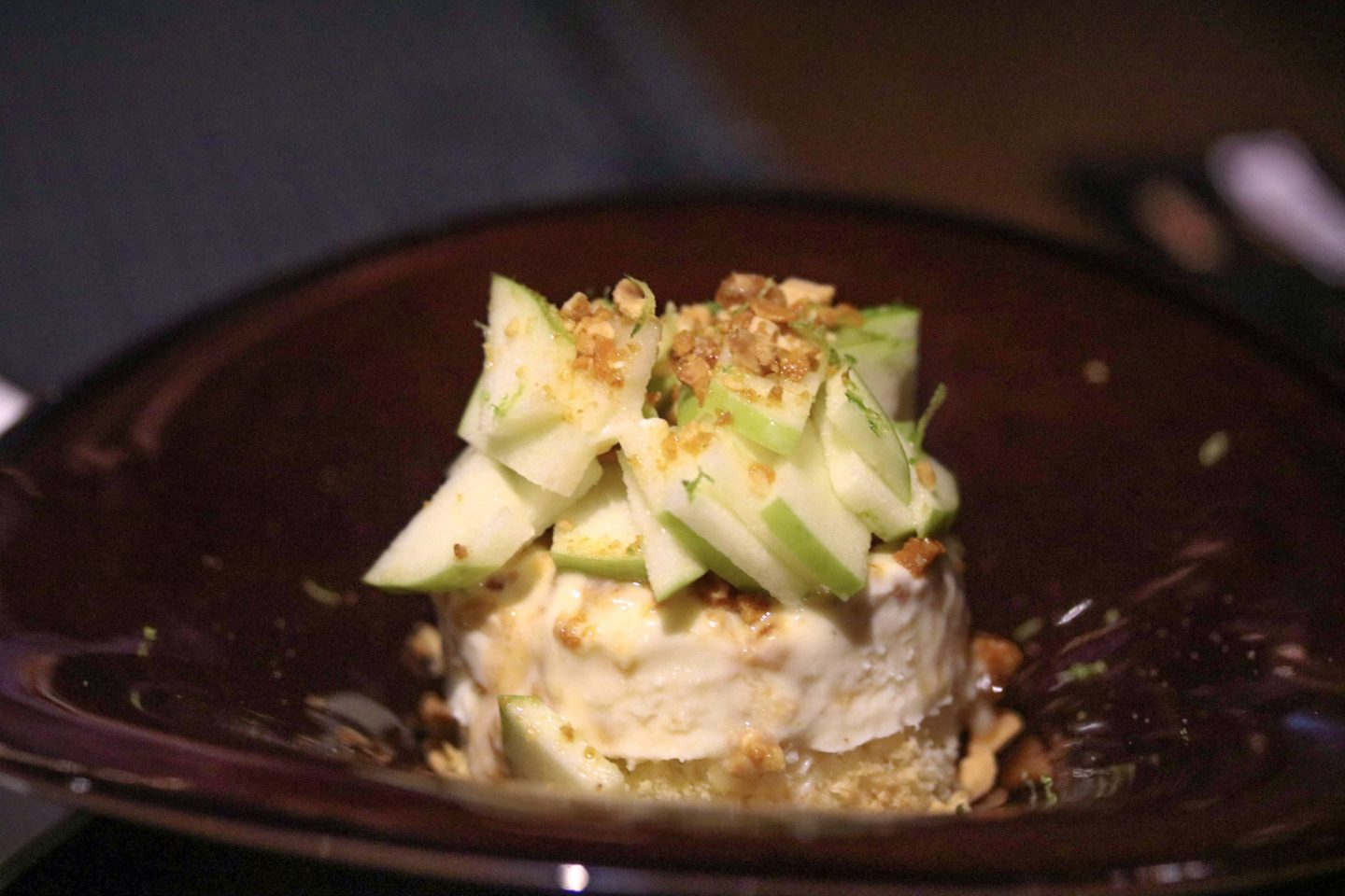 Dinner at Zengo Le Royal Meridien Dubai - white chocolate semi freddo with apple - Lifestyle Enthusiast blog