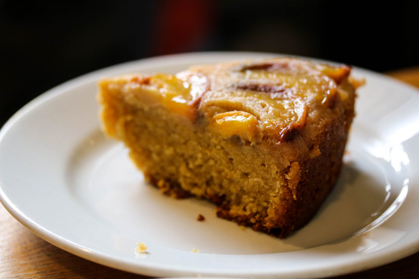 Mill Kitchen Farsley, the best breakfast in Yorkshire, Review on the Lifestyle Enthusiast - Nectarine upside down cake slice