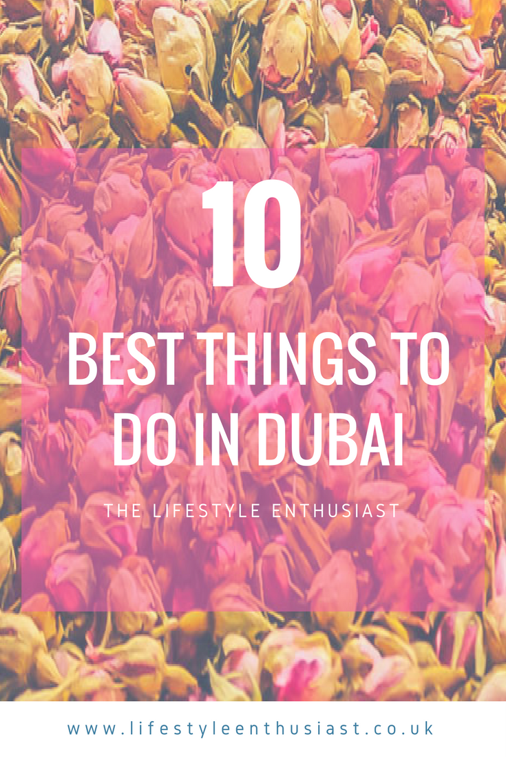 10 Things to do in Dubai - Pinterest ready button