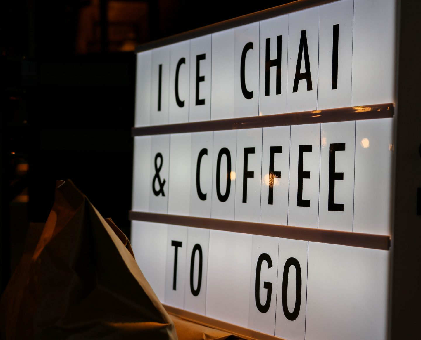 Ice Chai and Coffee to go at Chai Ki, Canary Wharf - Lifestyle Enthusiast Blog Recovery Brunch Review