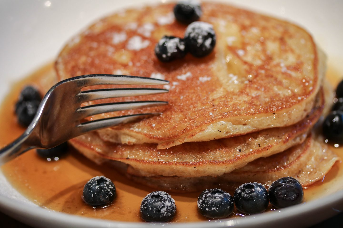 Chaas Buttermilk Pancakes with Blueberries at Chai Ki, Canary Wharf - Lifestyle Enthusiast Blog Recovery Brunch Review