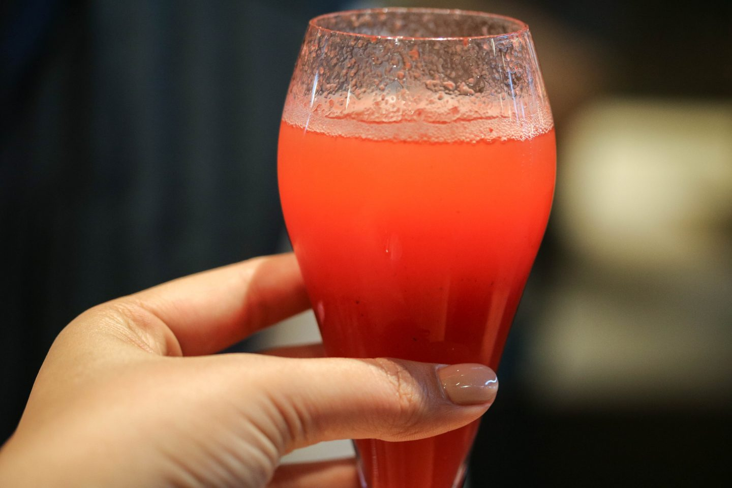 Strawberry Chai Bellini at Chai Ki, Canary Wharf - Lifestyle Enthusiast Blog Recovery Brunch Review