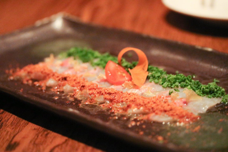 Nobu Dubai Whitefish Sashimi with Chives _ Lifestyle Enthusiast blog