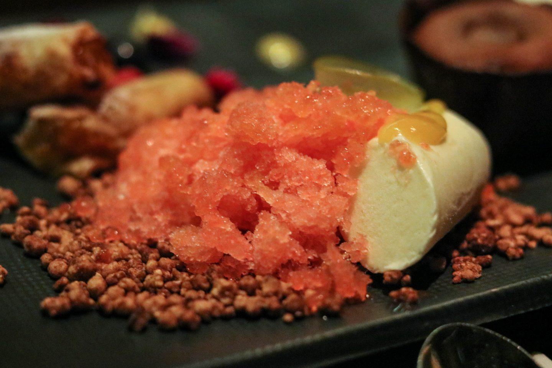Osaka Lima Peru Dessert Platter to share Yuzu Cheesecake